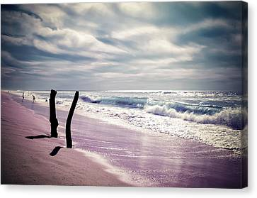 Canvas Print featuring the photograph The Voice Of The Sea by Thierry Bouriat