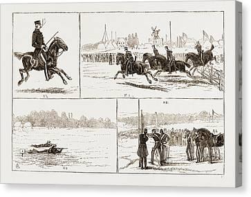 The Volunteer Camp At Wimbledon Uk 1873 Canvas Print