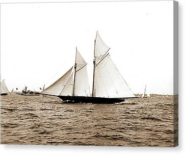 The Volunteer, Goelet Cup Race, August 7, 1891, Nantucket Canvas Print by Litz Collection