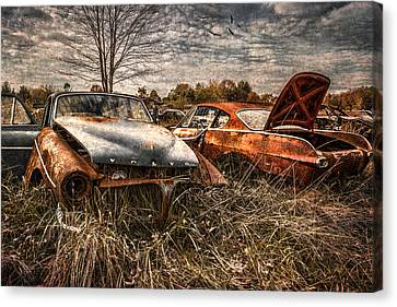 The Volvo Graveyard Canvas Print by Dale Kincaid