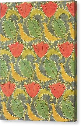 The Voysey Birds Canvas Print by Voysey