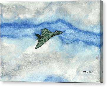 Canvas Print featuring the painting The Vulcan Bomber by John Williams