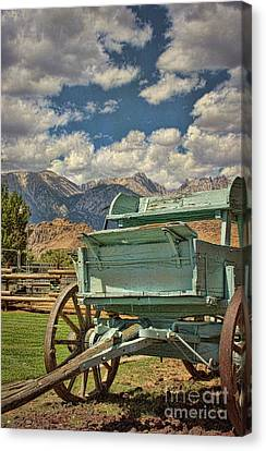 The Wagon Canvas Print by Peggy Hughes