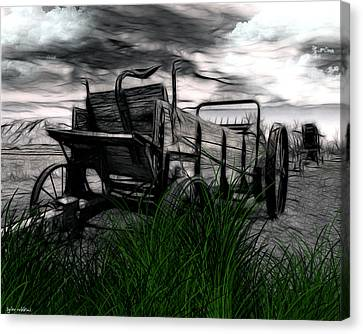Canvas Print featuring the mixed media The Wagon by Tyler Robbins