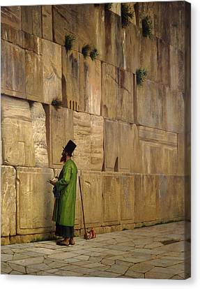 The Wailing Wall, 1880 Canvas Print by Jean Leon Gerome