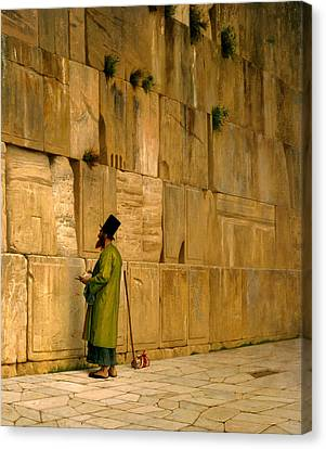 The Wailing Wall Canvas Print by J L Gerome