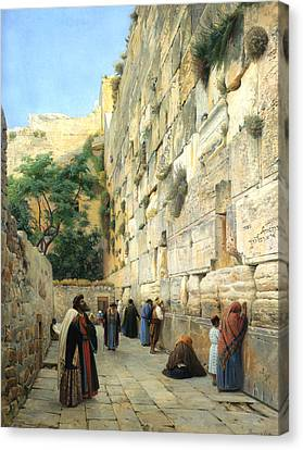 Walkway Canvas Print - The Wailing Wall Jerusalem by Gustav Bauernfeind