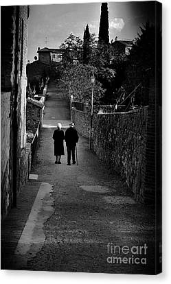 The Walk Of Life Canvas Print by Henry Kowalski