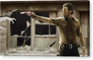 The Walking Dead Canvas Print by Paul Tagliamonte
