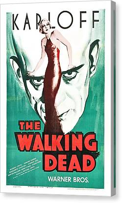 The Walking Dead Poster Canvas Print by Gianfranco Weiss