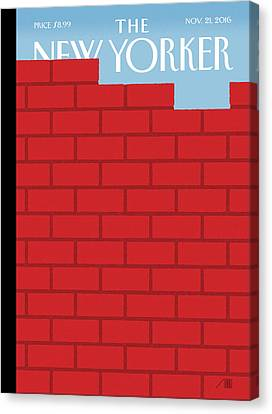 The Wall Canvas Print by Bob Staake