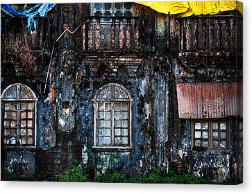 Abandoned House Canvas Print - The Wall Of The Old Goan House 1. Margao. India by Jenny Rainbow