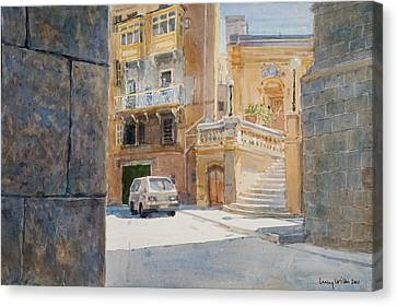 The Walls Of Birgu Canvas Print by Lucy Willis