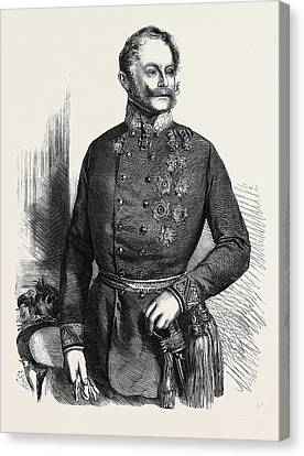 The War Count Gyulai Commander-in-chief Of The Austrian Canvas Print by Austrian School