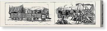 The War In Egypt Armour-plated Trucks Running Canvas Print by Egyptian School