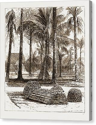 The War In The Malay Peninsula, 1876 The Barracks Canvas Print by Litz Collection