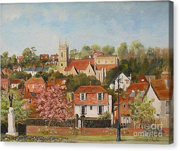 The War Memorial Hythe Canvas Print by Beatrice Cloake