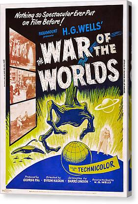 Jbp10ma14 Canvas Print - The War Of The Worlds, Poster Art, 1953 by Everett