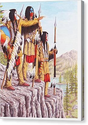 The War Path Canvas Print by Billie Bowles
