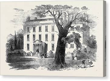 The Warehousemen And Clerks Schools, Hatcham-grove House Canvas Print by English School