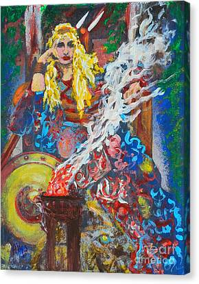 The Warrior Queen Canvas Print by Alys Caviness-Gober