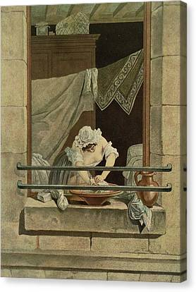 The Washerwoman, Engraved By J. Laurent Canvas Print