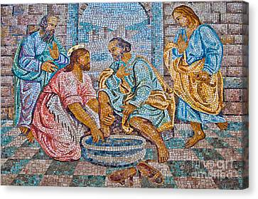 The Washing Of The Feet Canvas Print