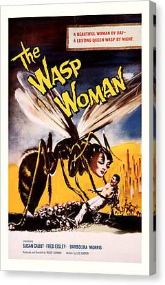 The Wasp Woman 1959 Canvas Print by Presented By American Classic Art