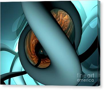 Creepy Canvas Print - The Watcher Abstract by Alexander Butler