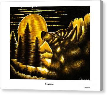 The Watcher Canvas Print by Jonas Jeque