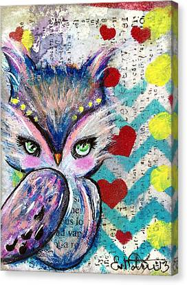 The Watcher Canvas Print by Lizzy Love of Oddball Art Co