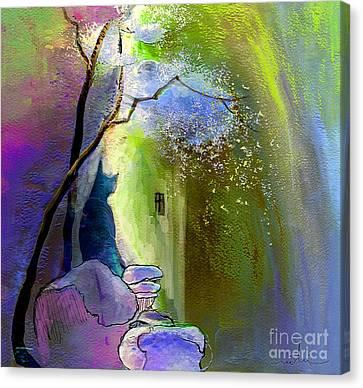 The Watcher Canvas Print by Miki De Goodaboom