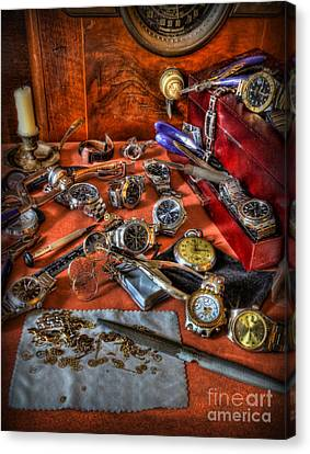 The Watchmaker's Desk Canvas Print by Lee Dos Santos