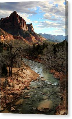 The Watchman At Sunset Canvas Print by Eric Foltz