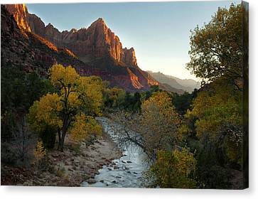 The Watchman At Zion Canvas Print by Andrew Soundarajan