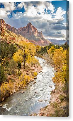 The Watchman In Autumn Canvas Print