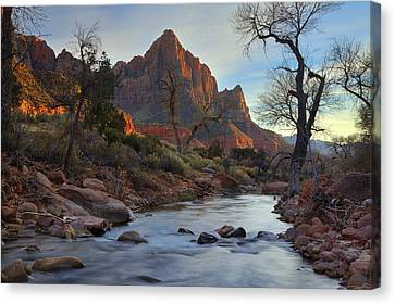 The Watchman In Winter-2 Canvas Print