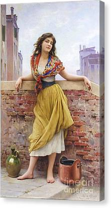 The Water Carrier Canvas Print by Pg Reproductions