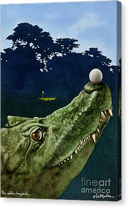 Alligator Canvas Print - The Water Hazard... by Will Bullas
