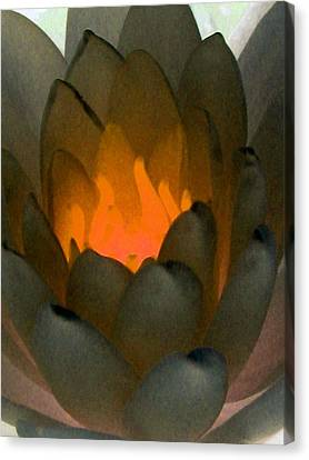 Canvas Print featuring the photograph The Water Lilies Collection - Photopower 1043 by Pamela Critchlow