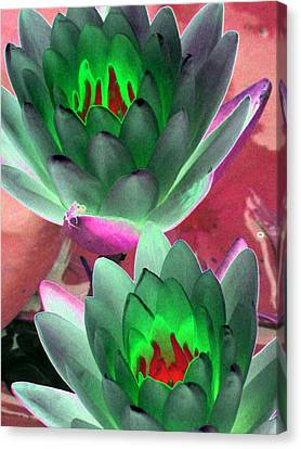 Canvas Print featuring the photograph The Water Lilies Collection - Photopower 1121 by Pamela Critchlow