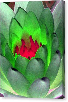 Canvas Print featuring the photograph The Water Lilies Collection - Photopower 1122 by Pamela Critchlow