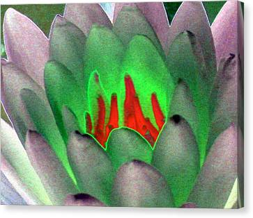 Canvas Print featuring the photograph The Water Lilies Collection - Photopower 1123 by Pamela Critchlow