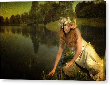 The Water Maiden Canvas Print by Dick Wood