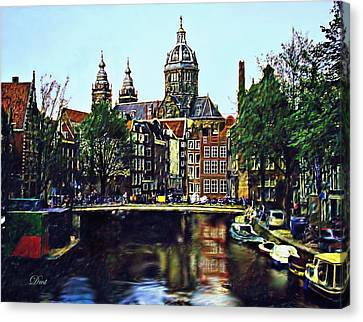 The Water Way Amsterdam Canvas Print by Dmt