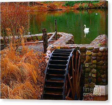 The Water Wheel Canvas Print by Paul Ward
