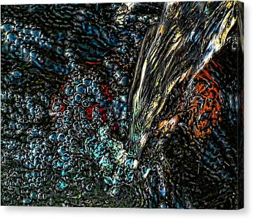 Canvas Print featuring the digital art The Waterfall Of Enlightenment by Robert Rhoads