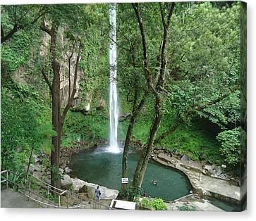 The Waterfalls Canvas Print by Fladelita Messerli-