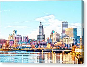 The Waterfront Canvas Print by Jerri Moon Cantone