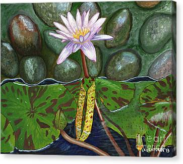 The Waterlily Canvas Print by Laura Forde